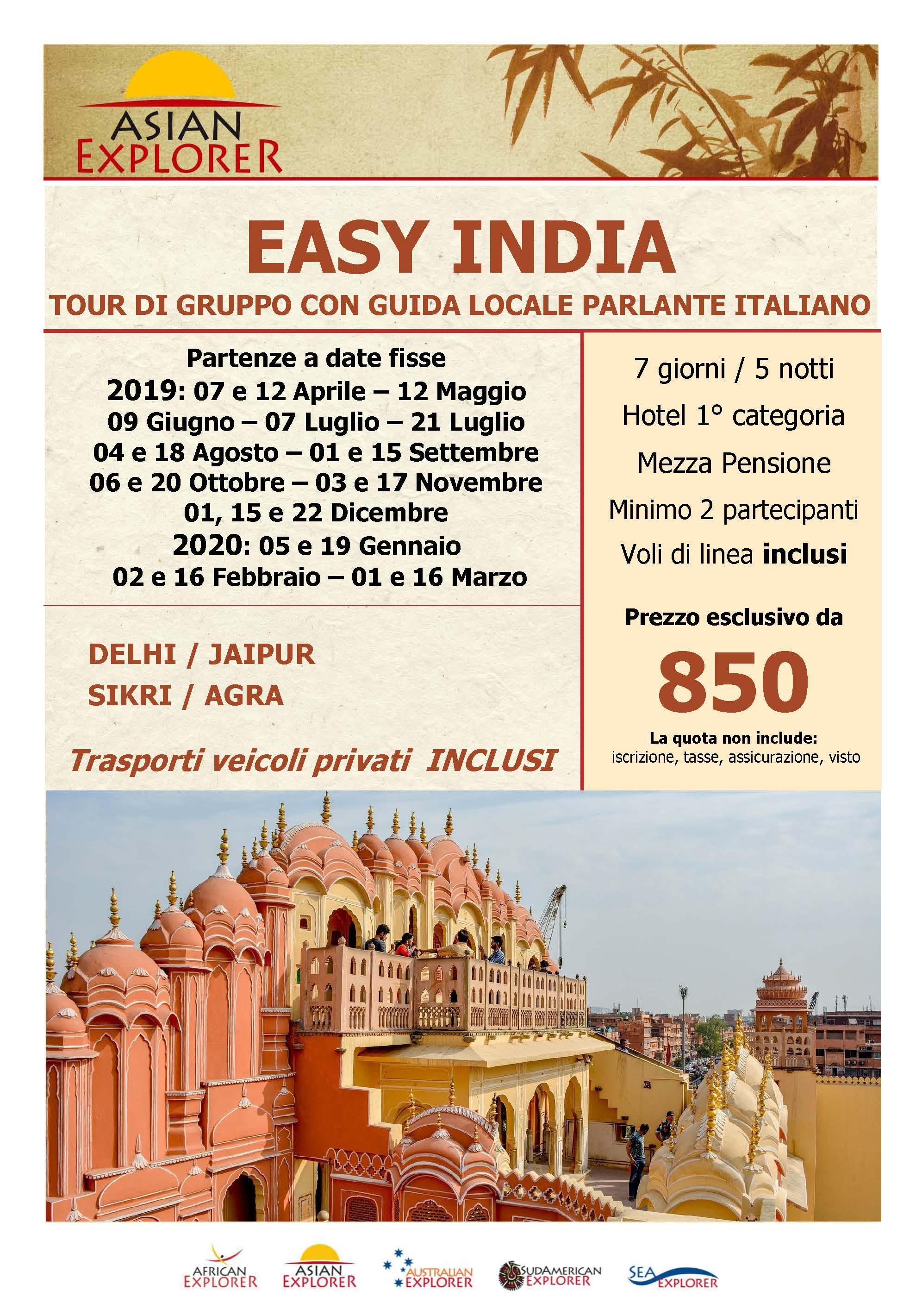 Tour India fino 2020
